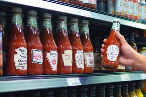 1 480x320 - 250 étiquettes personnalisées sur des bouteilles de ketchup