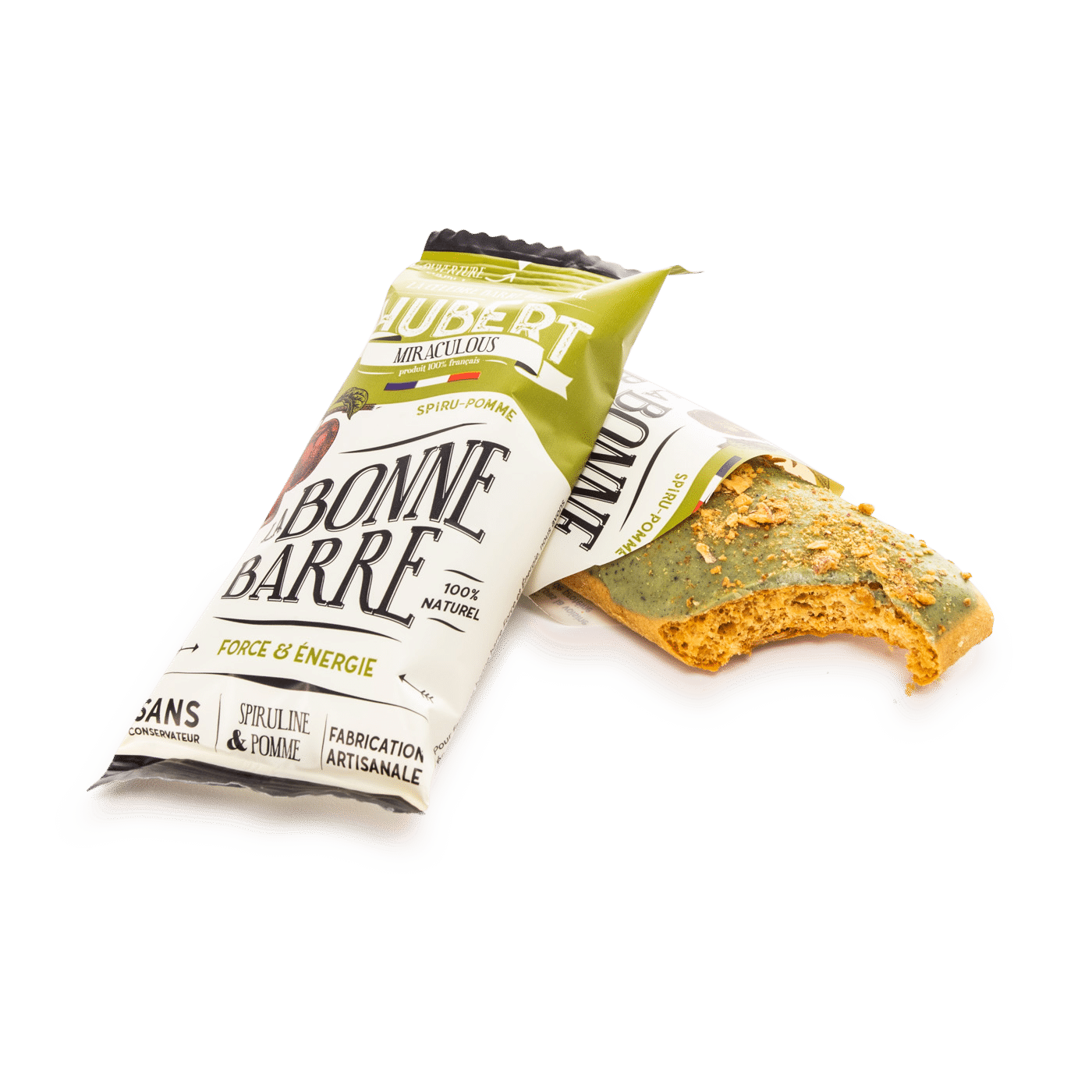 Barre verte ouverte croc - Des barres chocolatées miraculeuses