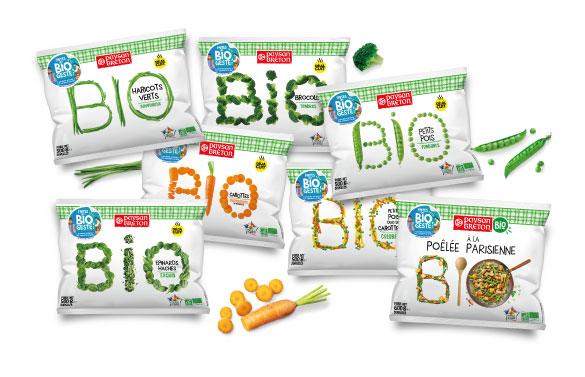 Visuel gamme Bio Paysan Breton Les surgeles - Faites un Bio geste ! avec Paysan Breton Les surgelés