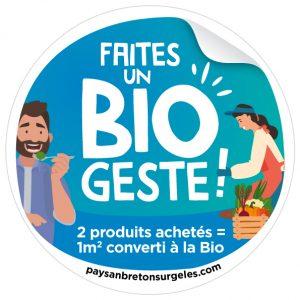 Visuel sticker BIO GESTE Paysan Breton surgeles ope bio 2021 1 300x300 - Faites un Bio geste ! avec Paysan Breton Les surgelés