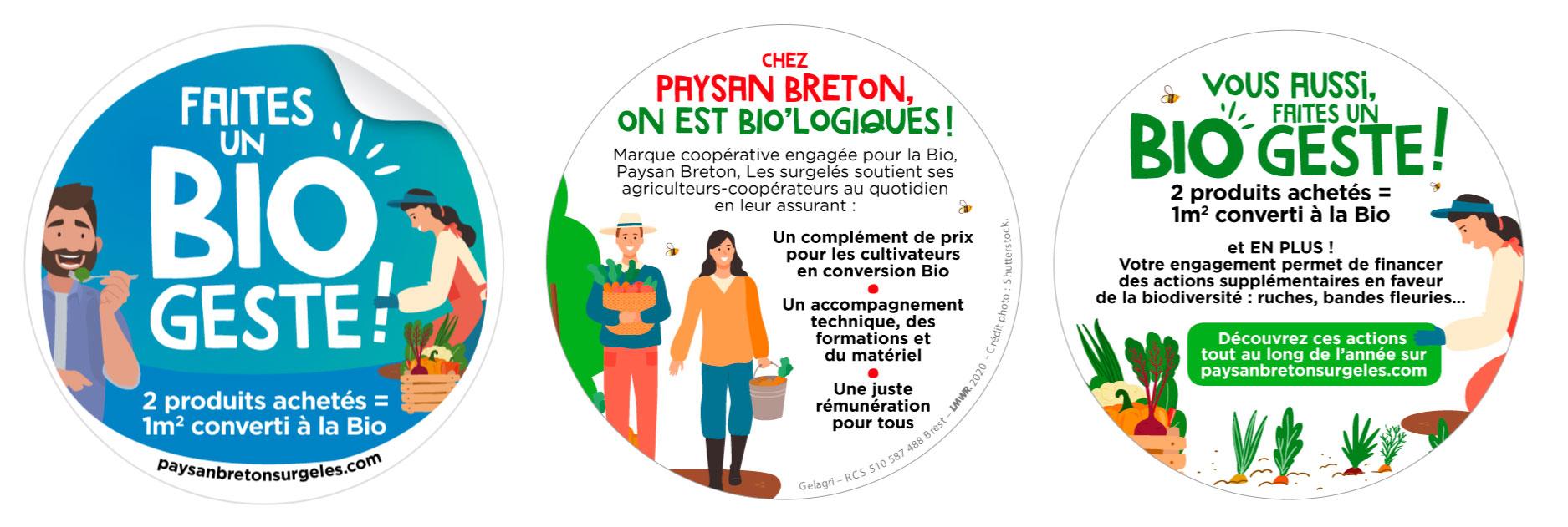 Visuel sticker BIO GESTE Paysan Breton surgeles ope bio 2021 - Faites un Bio geste ! avec Paysan Breton Les surgelés