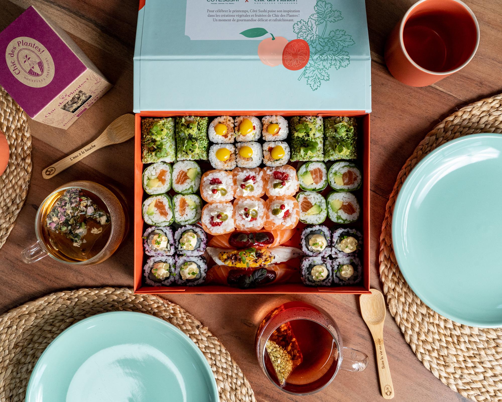 Cote Sushi 012021 Simon 5 ret - Quand l'exotisme de la cuisine nikkei rencontre l'univers végétal et fruité de Chic des Plantes !