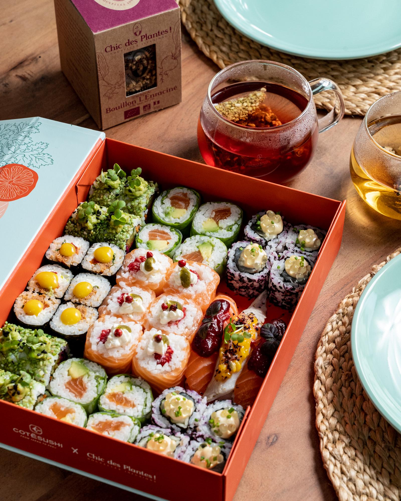 Cote Sushi 012021 Simon 7 - Quand l'exotisme de la cuisine nikkei rencontre l'univers végétal et fruité de Chic des Plantes !