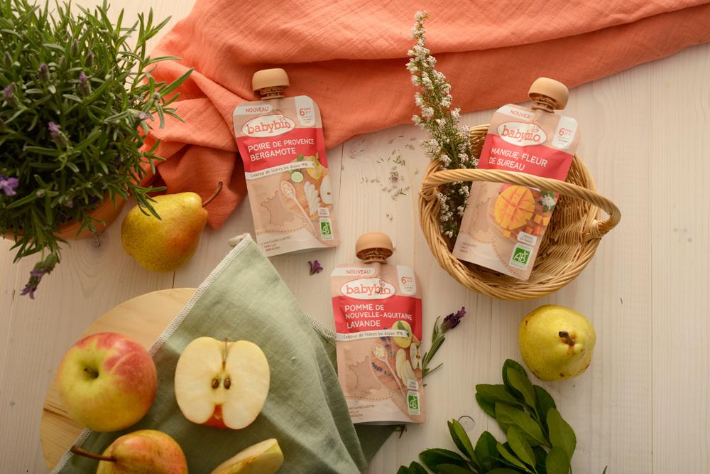 babybio Ambiance Fruits Fleurs - Des bouquets de saveurs pour bébé avec les gourdes Babybio