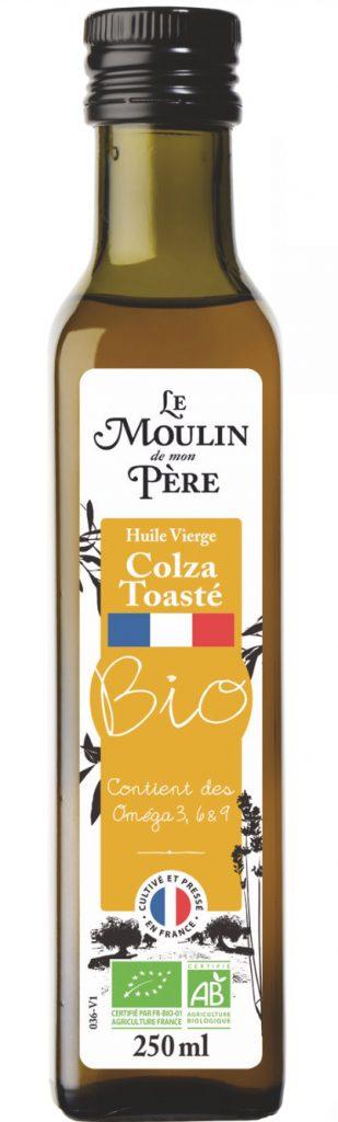 huile colza toaste 309x1024 - Une nouvelle huile vierge de colza toasté