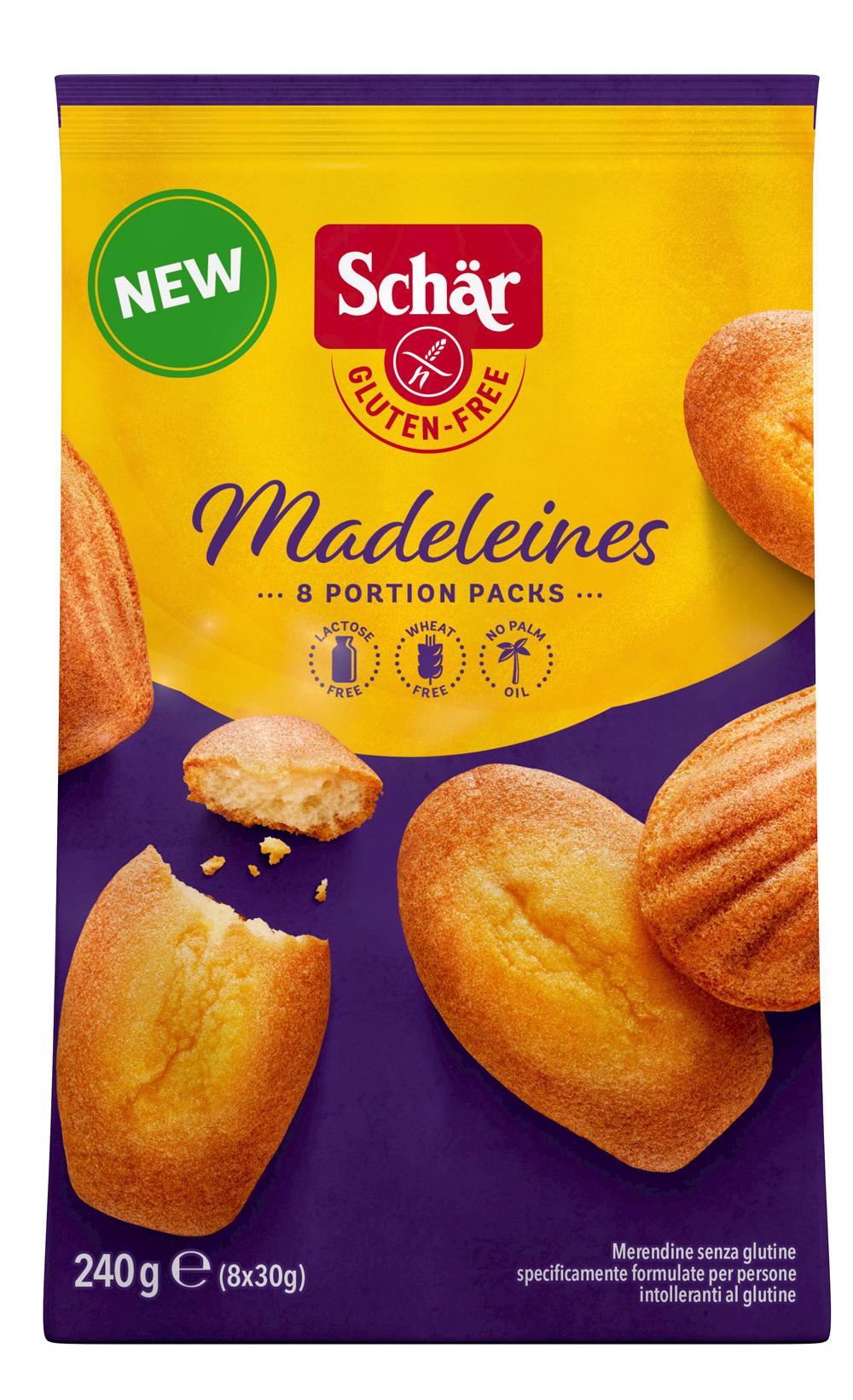 madeleines - Des madeleines et brownies sans gluten
