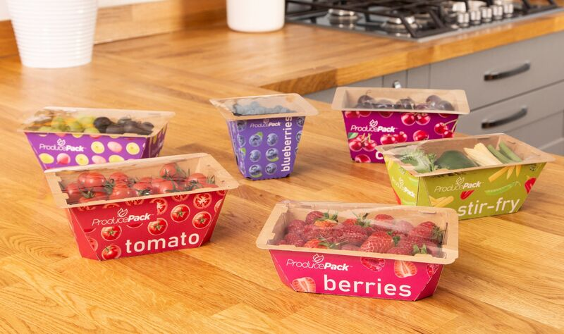 produce tray - Des fruits et légumes frais sans plastique