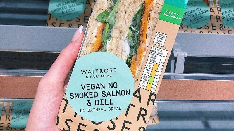vegan no smoked slam - Un sandwich au saumon fumé sans saumon fumé