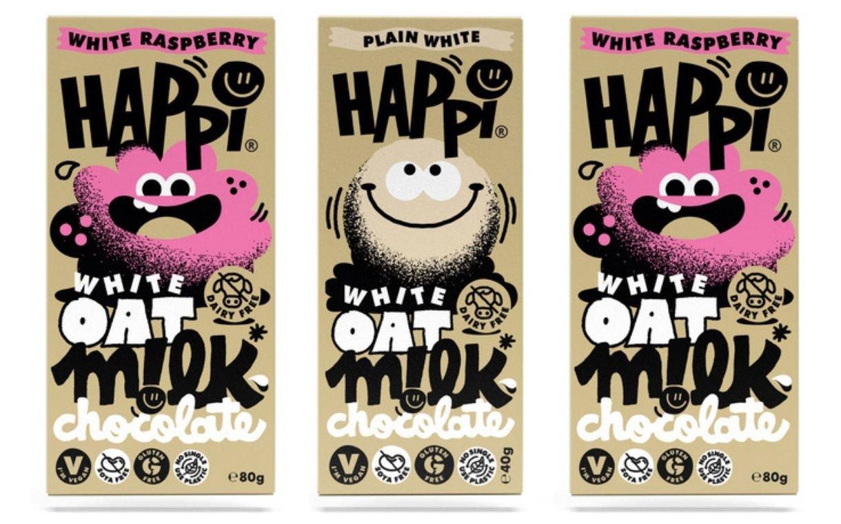 Happi white chocolate - Du chocolat blanc au lait d'avoine