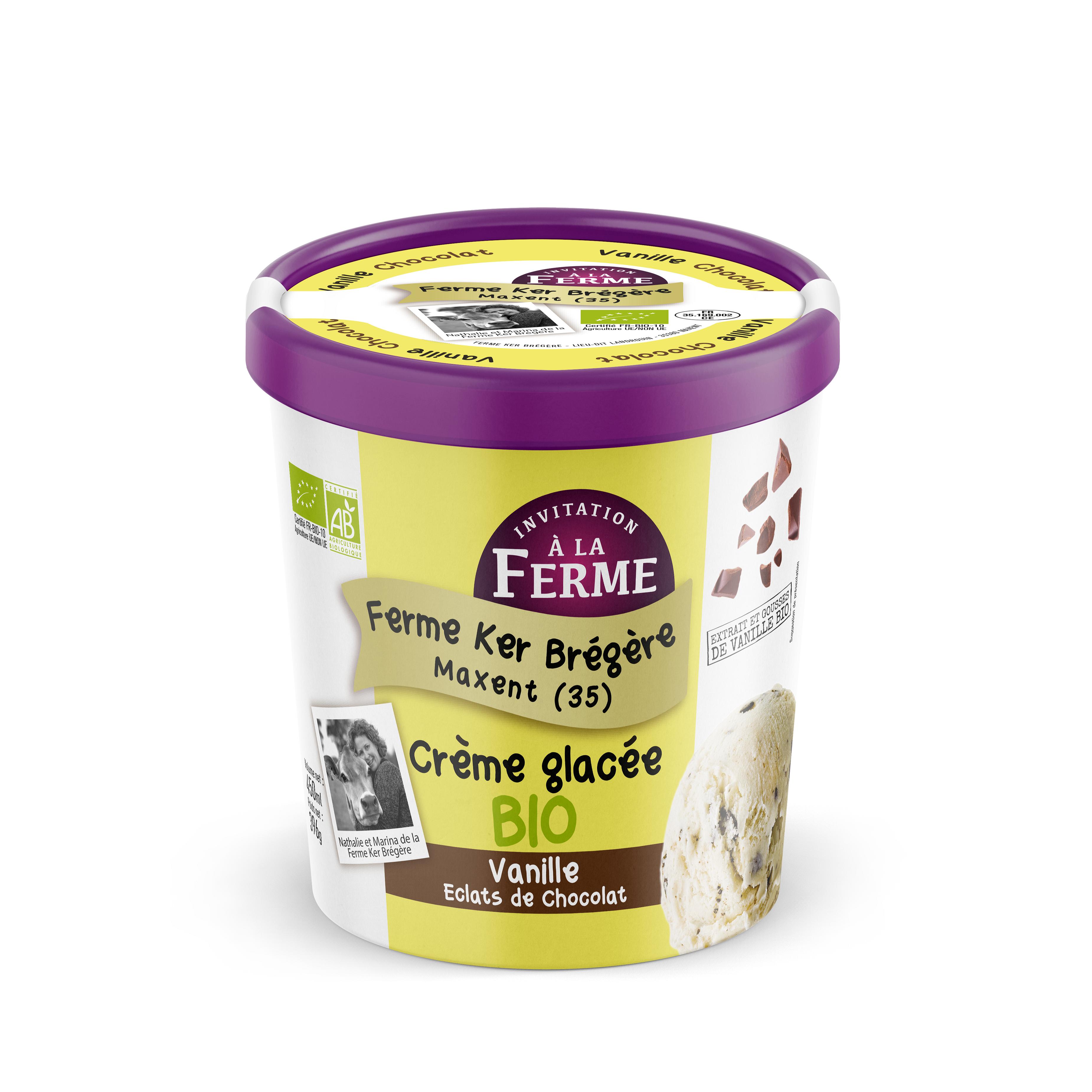 IAF Glace Bio Vanille Eclats de chocolat - Invitation à la Ferme lance des crèmes glacées