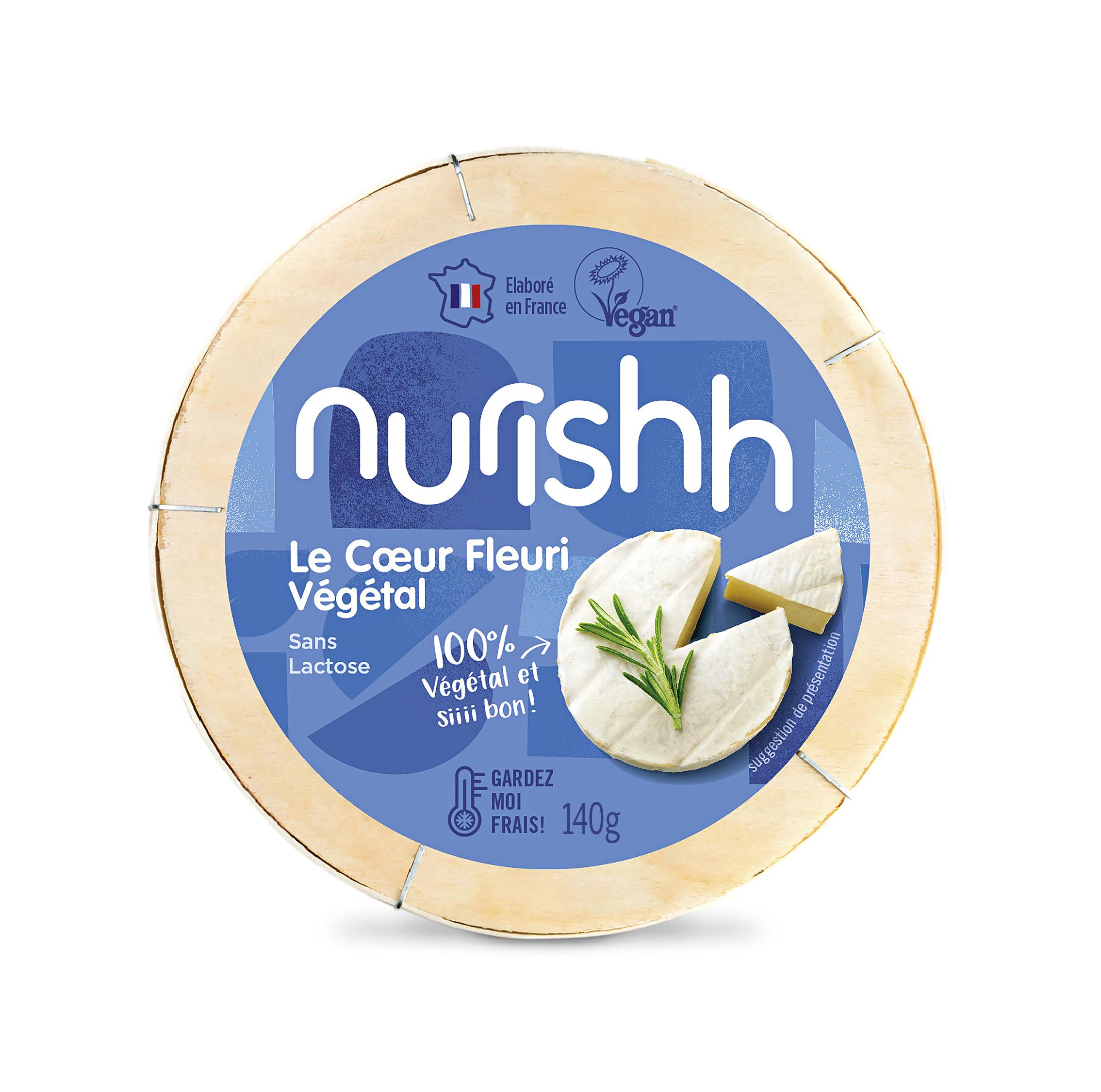 NURISHH COEUR FLEURI 140G - Bel lance Nurishh une gamme de fromages végétaux