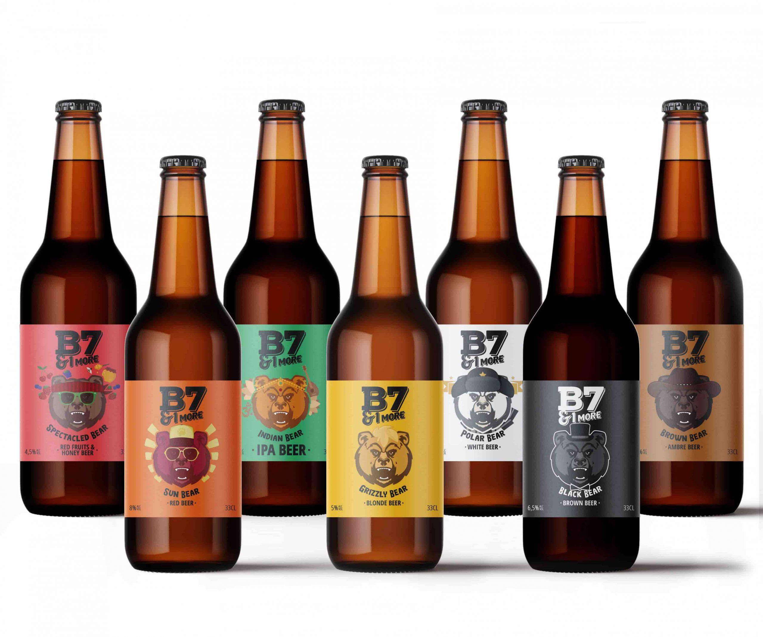 Visuels gamme B71MORE min scaled - Des bières artisanales engagées pour la défense des ours