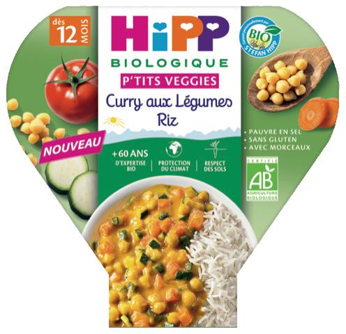 Curry au xlegumes - HIPP agrandit sa gamme de produits bios pour bébé