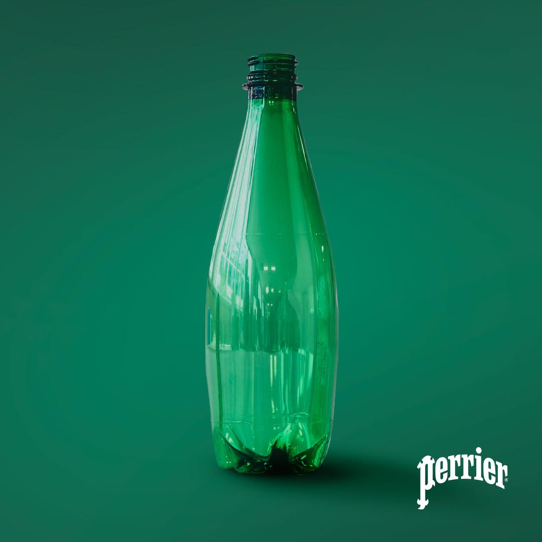 PERRIERCARB FB 1 - PERRIER® dévoile son premier prototype de bouteille recyclée par voie enzymatique