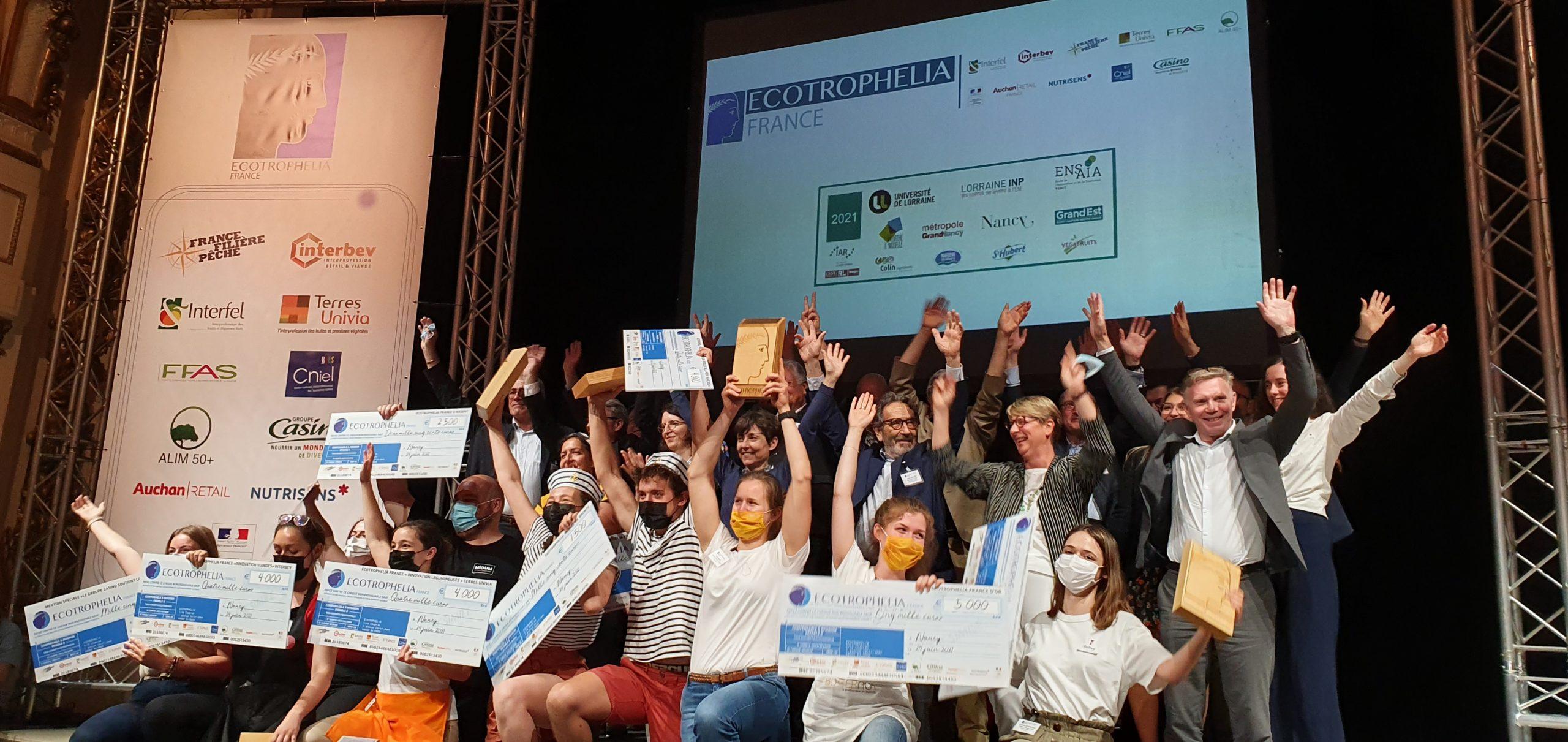 Photo ECOTROPHELIA 2021 scaled - Palmarès de la 22ème édition du Concours National de l'Innovation Alimentaire ECOTROPHELIA France
