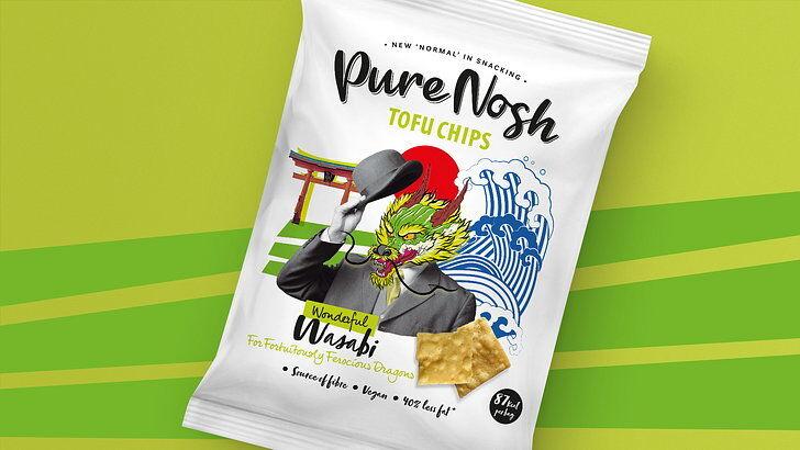 tofu chips - Pure Nosh lance des chips de tofu