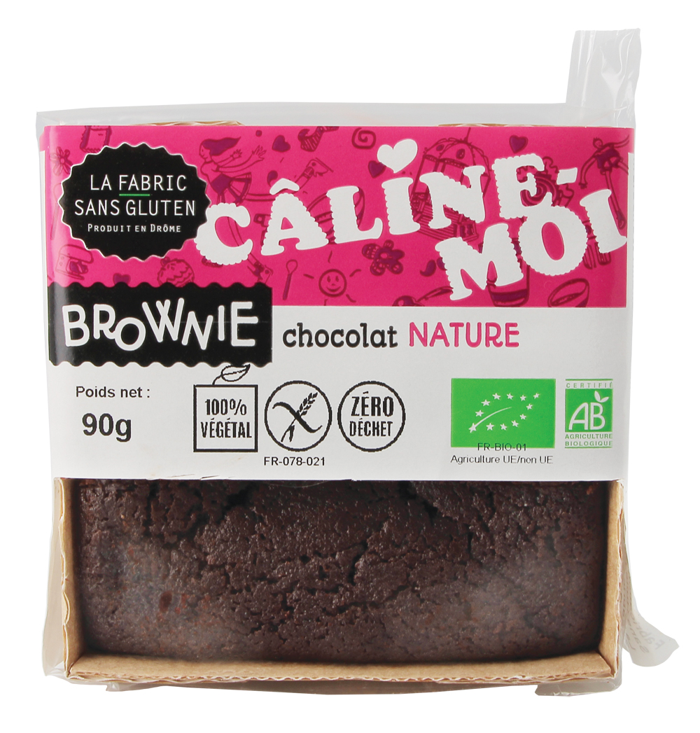 BROWNIES NATURE LA FABRIC SANS GLUTEN - Brownies : 5 recettes bio et sans gluten pour des goûters réussis