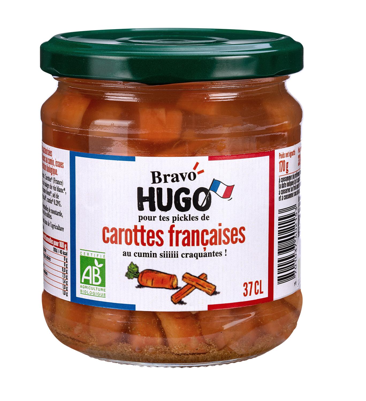 Bravo Hugo Carottes V2 - Les carottes, courgettes et cornichons en ont dans le bocal avec Bravo Hugo !