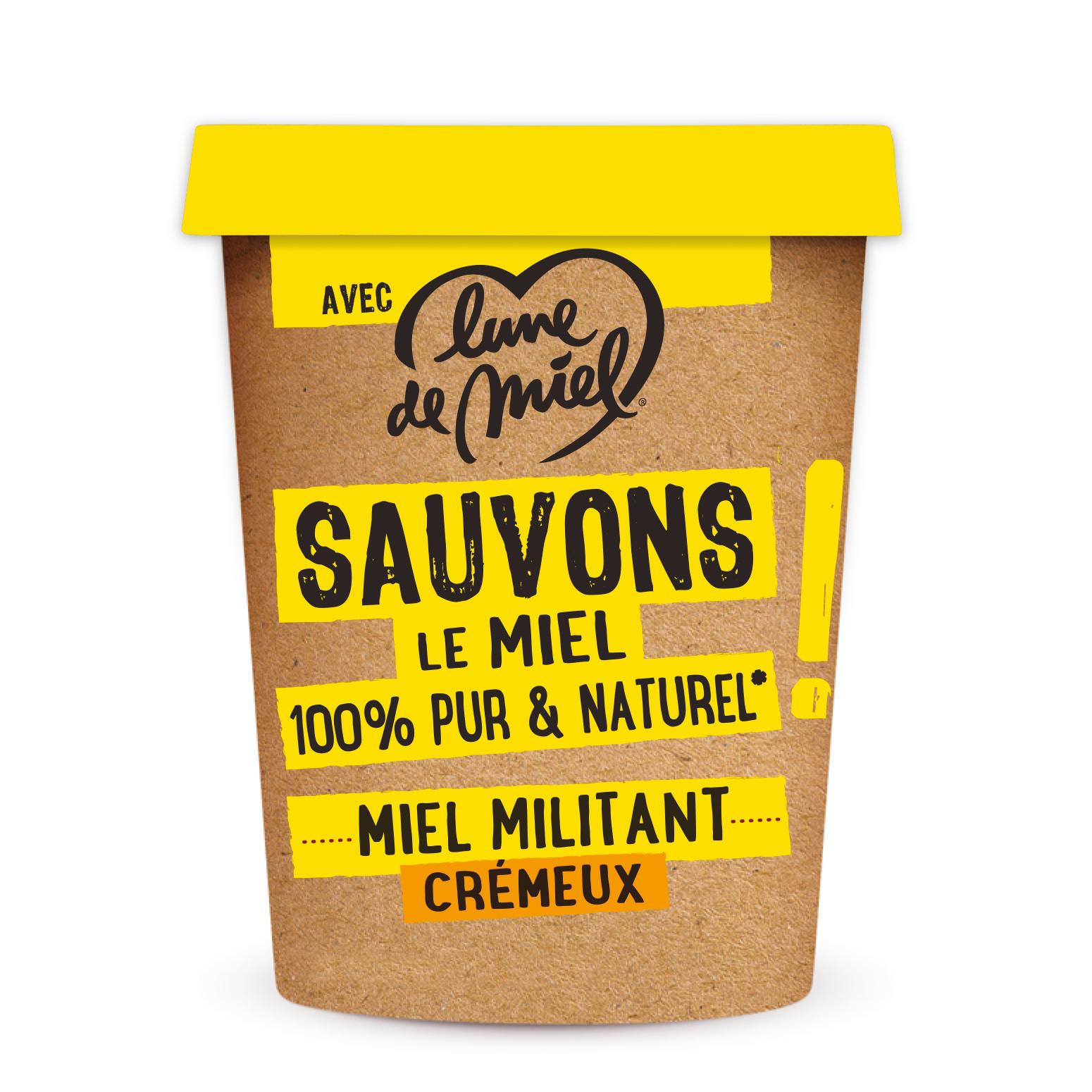 LDM Miel Militant CrCmeux 500 g - Lune de miel créé la gamme Le Miel Militant
