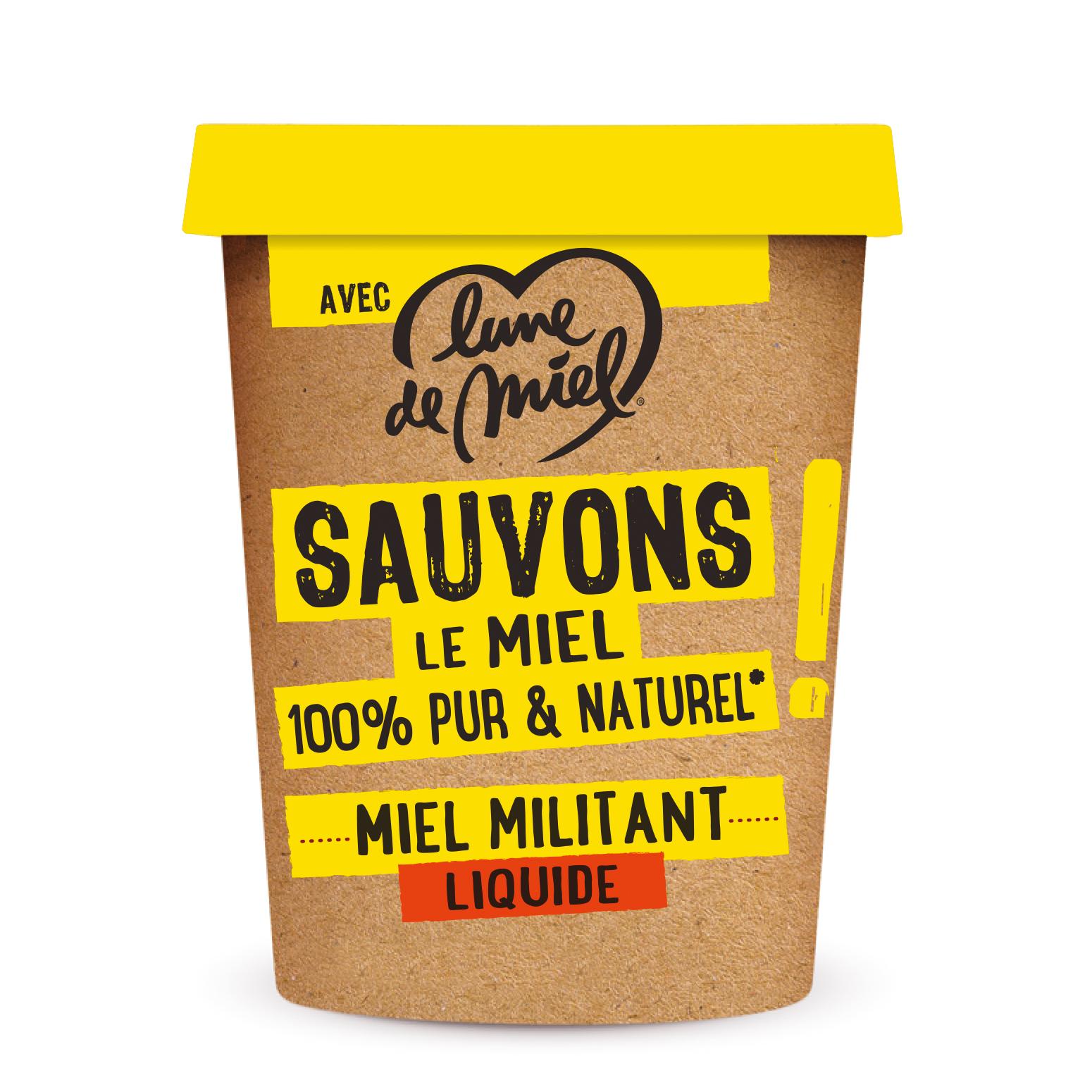 LDM Miel Militant Liquide 500 g - Lune de miel créé la gamme Le Miel Militant