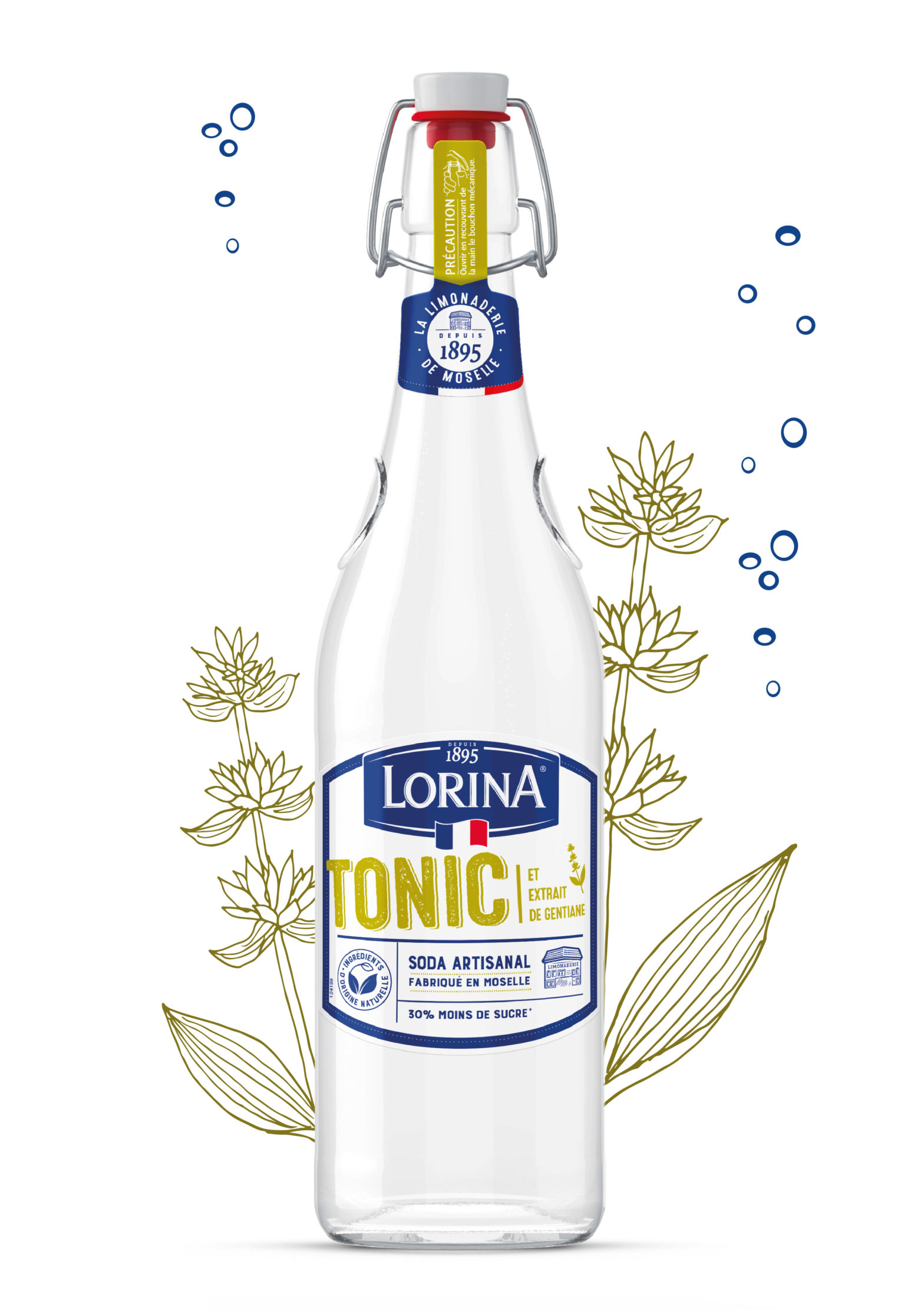 LORINA TONIC 75CL Plan de travail 1 1 1568x2222 1 - Lorina lance un Cola au coquelicot et un Tonic à la gentiane 100 % français et aux ingrédients 100 % naturels