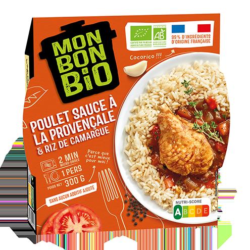 MBB Poulet Sauce a la provencale 300g pack - Mon Bon Bio, c'est bon et c'est bio naturellement !