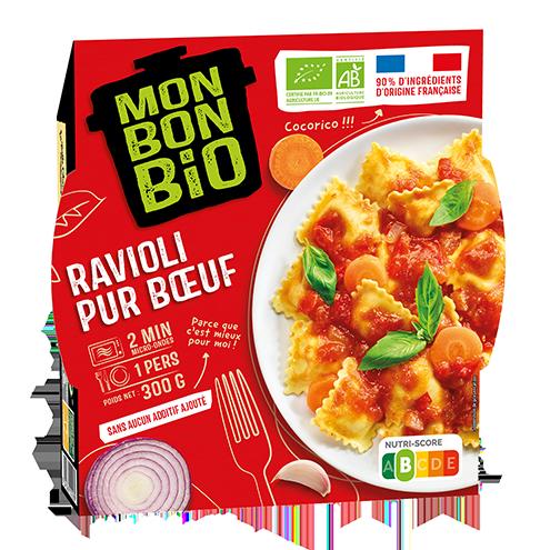 MBB Ravioli Pur Buf 300g pack - Mon Bon Bio, c'est bon et c'est bio naturellement !