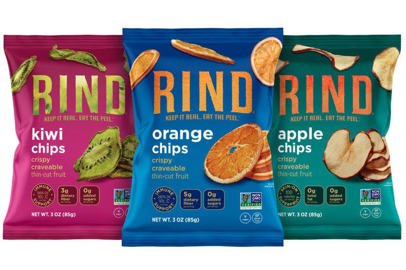 rind snacks superfood - Des chips de fruits avec la peau