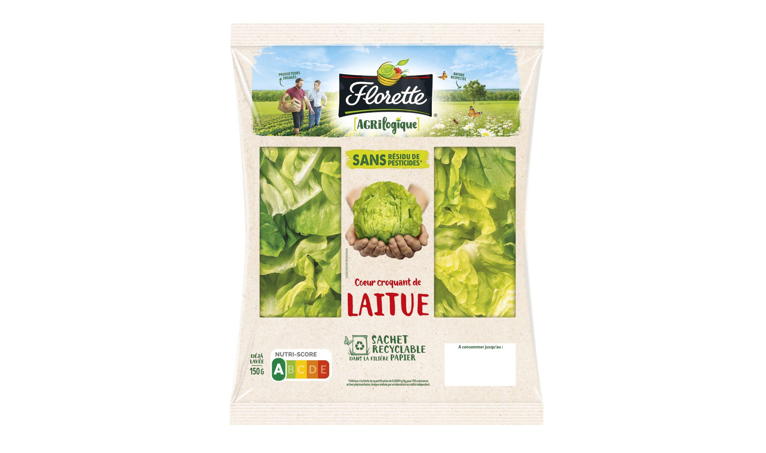 2107066 FLO FR Agrilogique Salade Laitue ZF19552 2D HD scaled - Florette lance un sachet de salade en papier recyclable