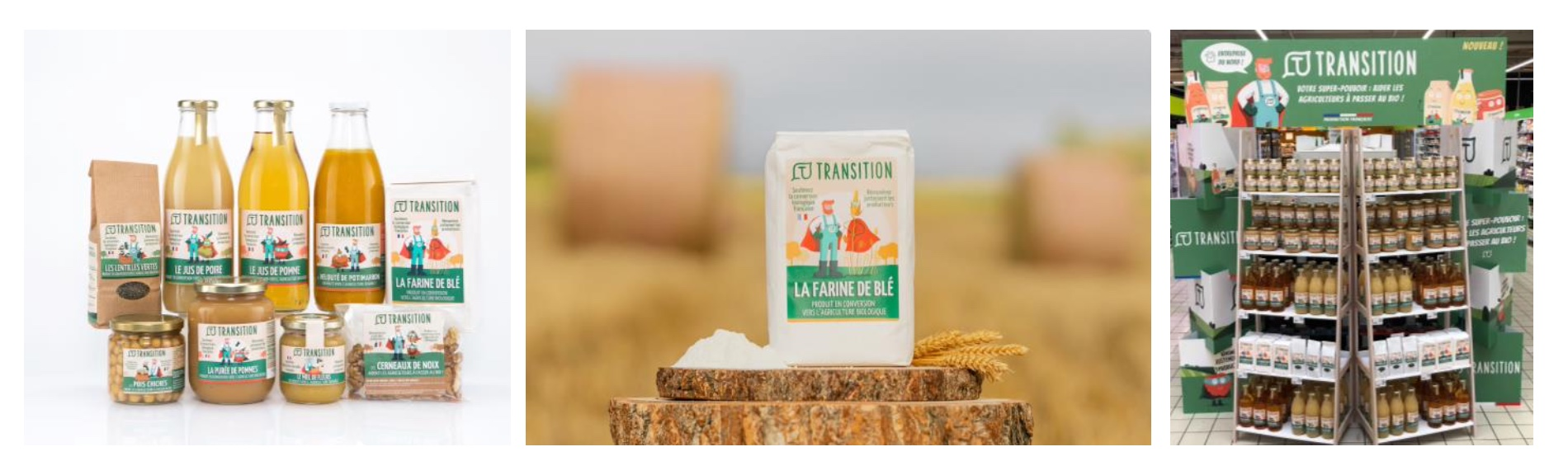 Capture decran 2021 09 15 a 22.21.47 - Transition, la nouvelle marque alimentaire qui aide les agriculteurs à passer au bio !