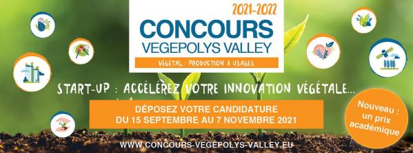 """Capture decran 2021 09 16 121825 - """"Accélérez votre innovation végétale!"""" VEGEPOLYS VALLEY lance la 6ème édition de son concours dédié aux start-up"""