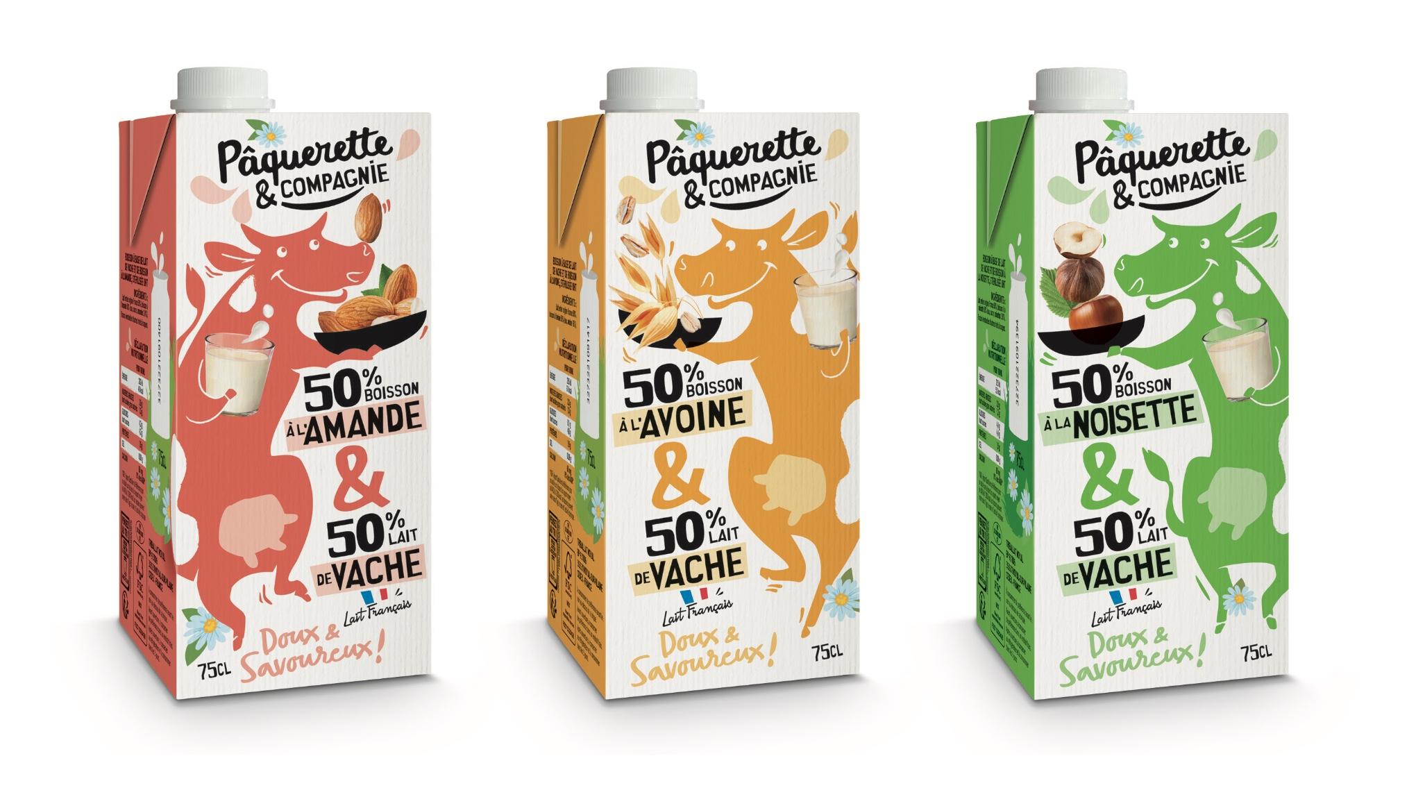 Capture decran 2021 09 21 a 15.28.43 - Pâquerette & Compagnie révolutionne le rayon lait avec un mix laitier/végétal
