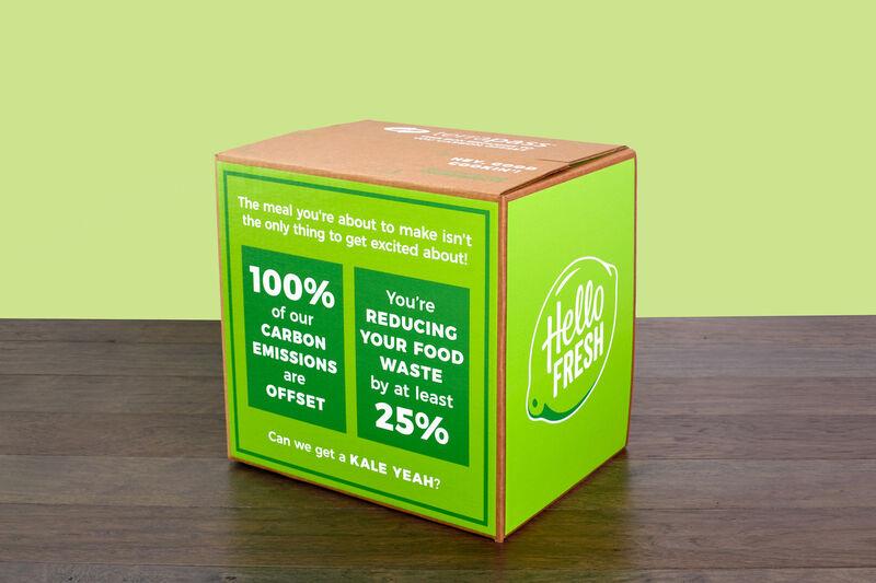hellofresh meal kits - HelloFresh s'associe à Terrapass pour réduire son impact environnemental