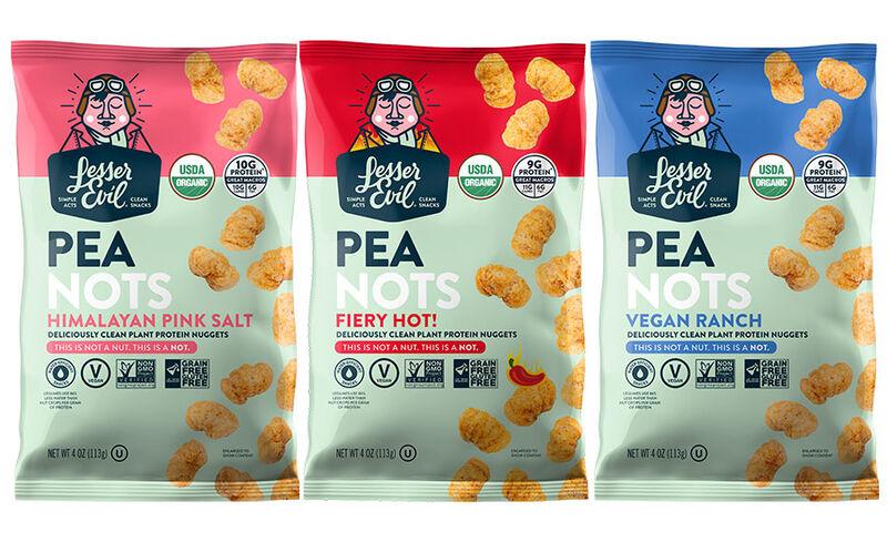 lesserevil peanots - Des snacks protéinés à base de pois