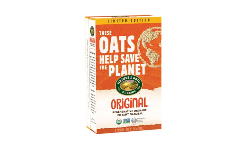 natures path regenerative organic certified instant oatmeal - Nature's Path dévoile sa farine bio en faveur du climat