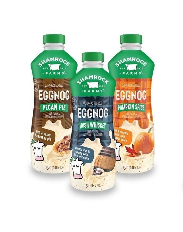 shamrock farms eggnogs - Eggnog élargit sa gamme de boissons