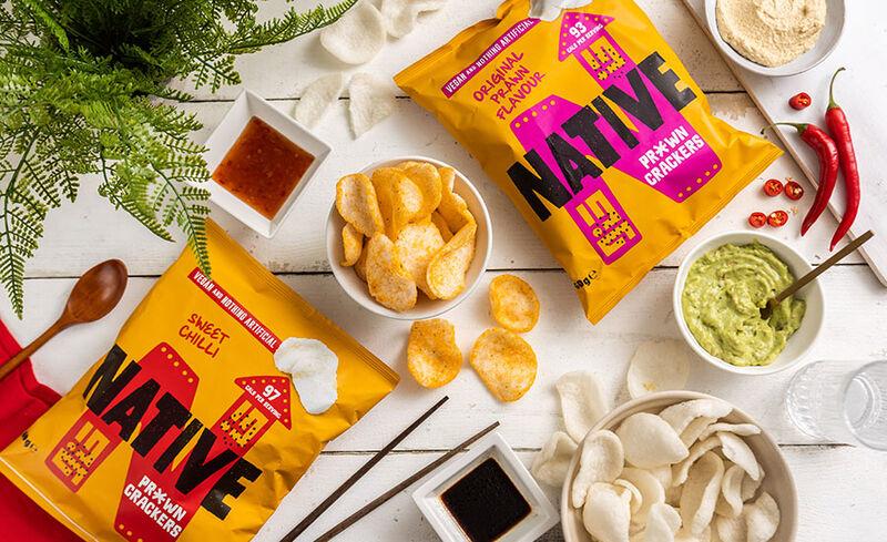 vegan prawn crackers - Native Snacks lance ses snacks végétaliens