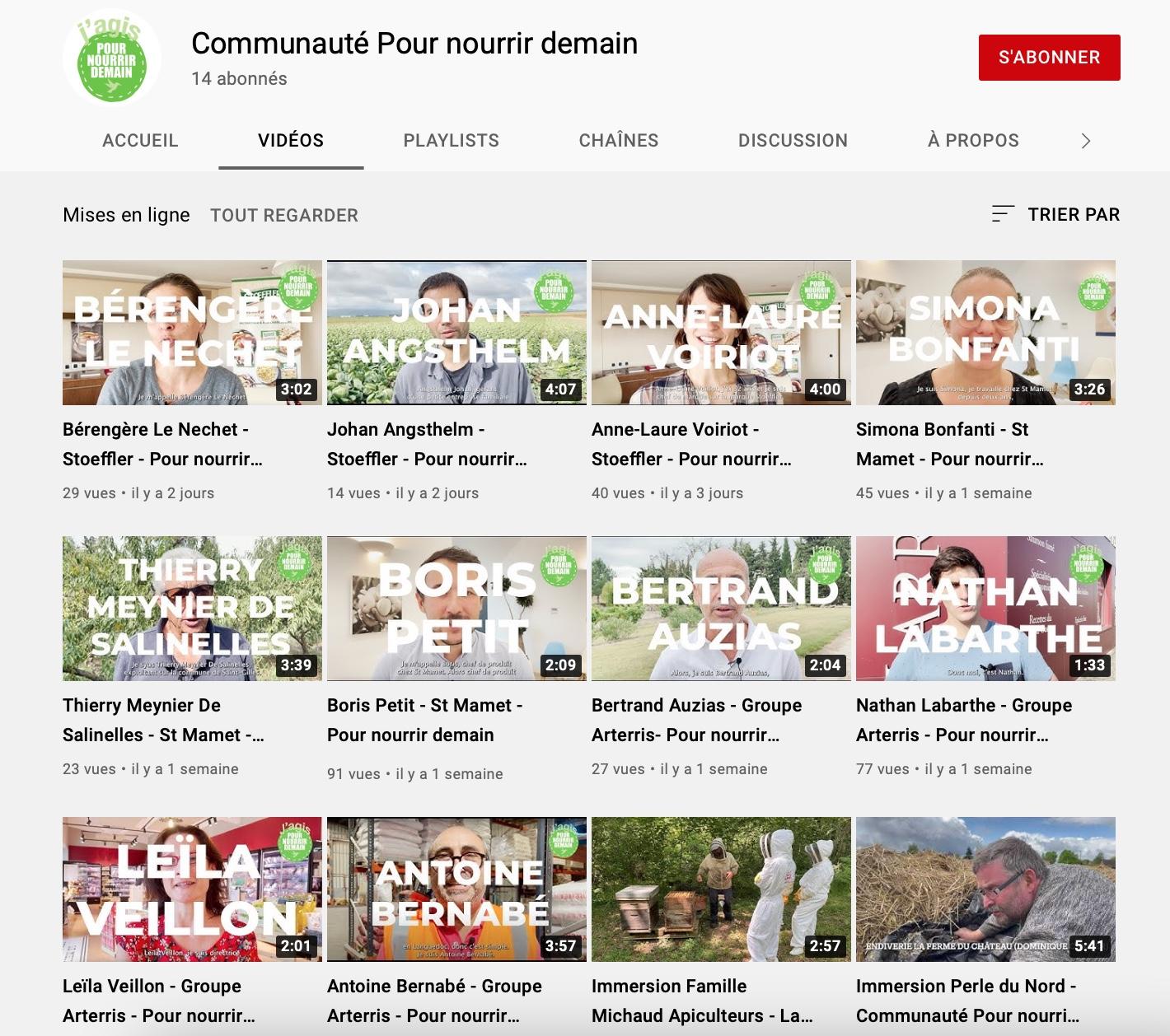 Capture decran 2021 10 03 a 20.41.01 - La Communauté Pour nourrir demain lance sa chaîne Youtube