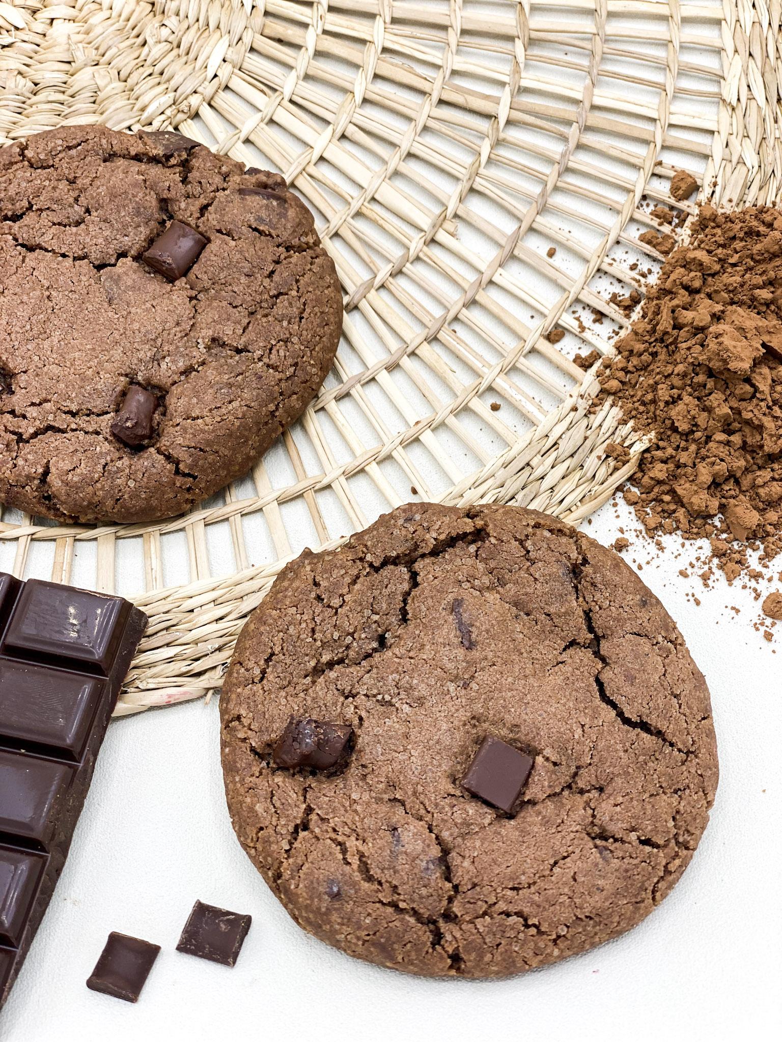 Cookie 70g Tout chocolat - Les cookies 100 % d'origine végétale made in Bretagne