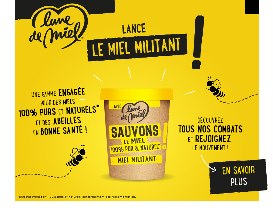 LDM Miel militant pop up - Rejoignez le mouvement pour un miel militant