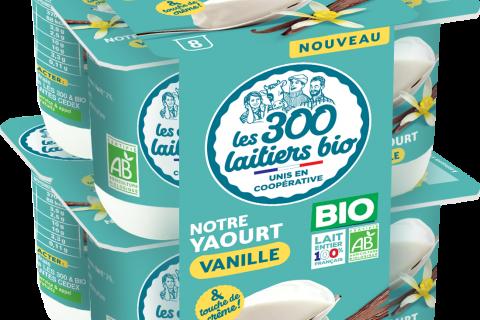 Les 300 laitiers bio Yaourt ferme Vanille x 8 480x320 - Les 300 laitiers bio déclinent deux produits phares en format XL